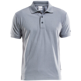 Craft Classic Polo Pique Fietsshirt Korte Mouwen Heren, grey melange